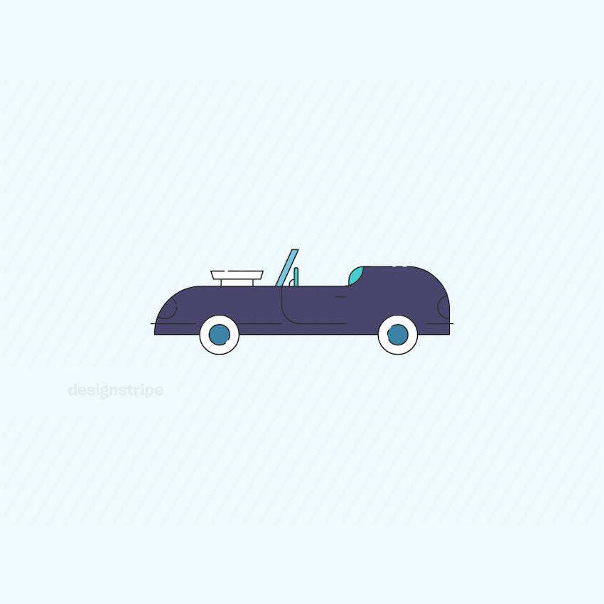 Illustration Of Sports Car