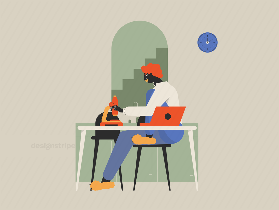 Illustration Of Person Working From Home