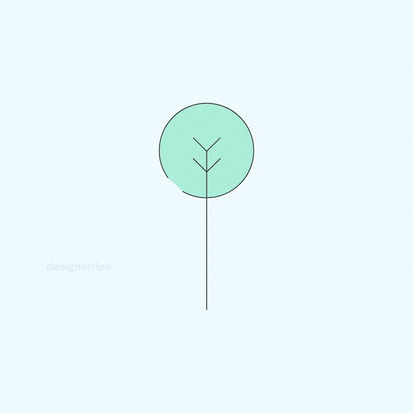 Illustration Of Round Tree