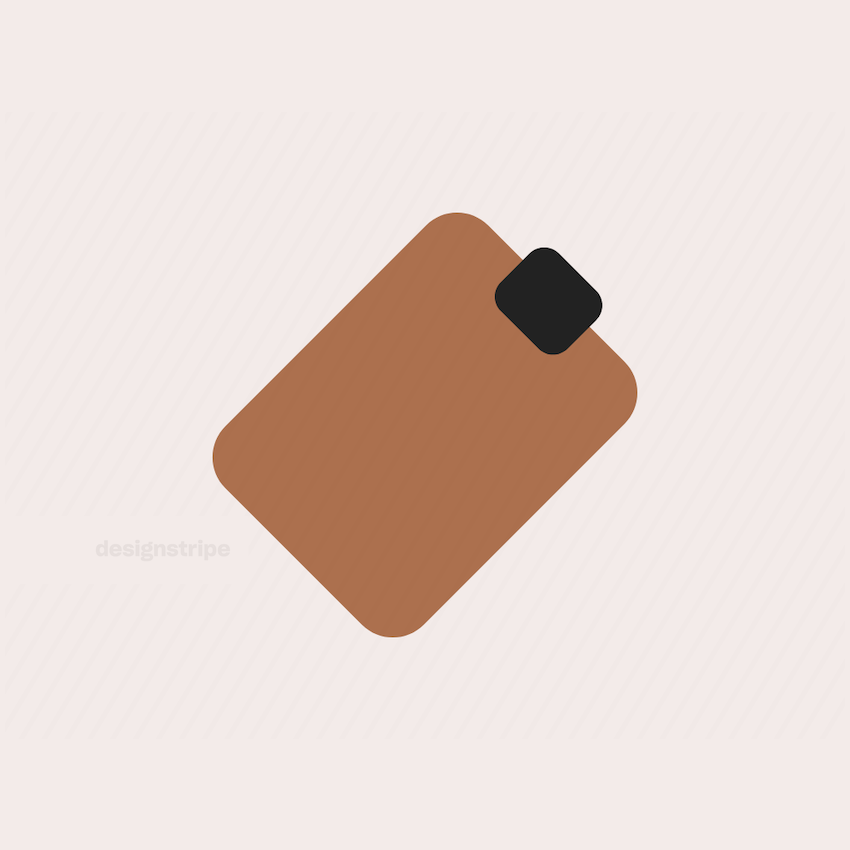 Illustration Of Luggage Tag, Name Badge or Clipboard