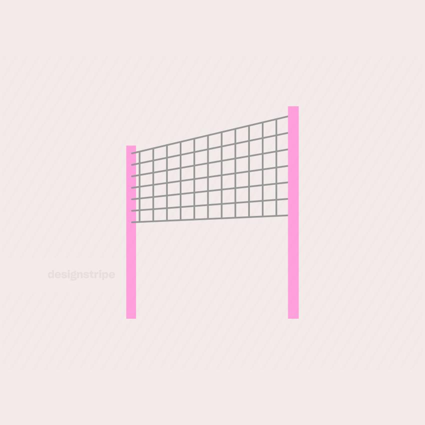 Illustration Of Volleyball or Badminton Net