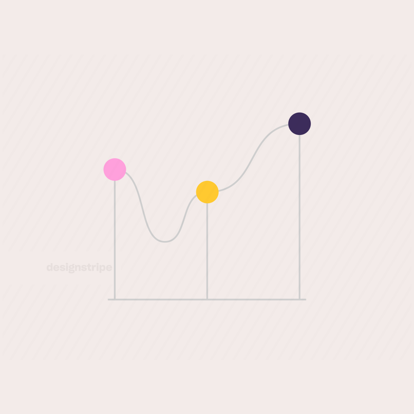 Illustration Of Line Graph with Circles