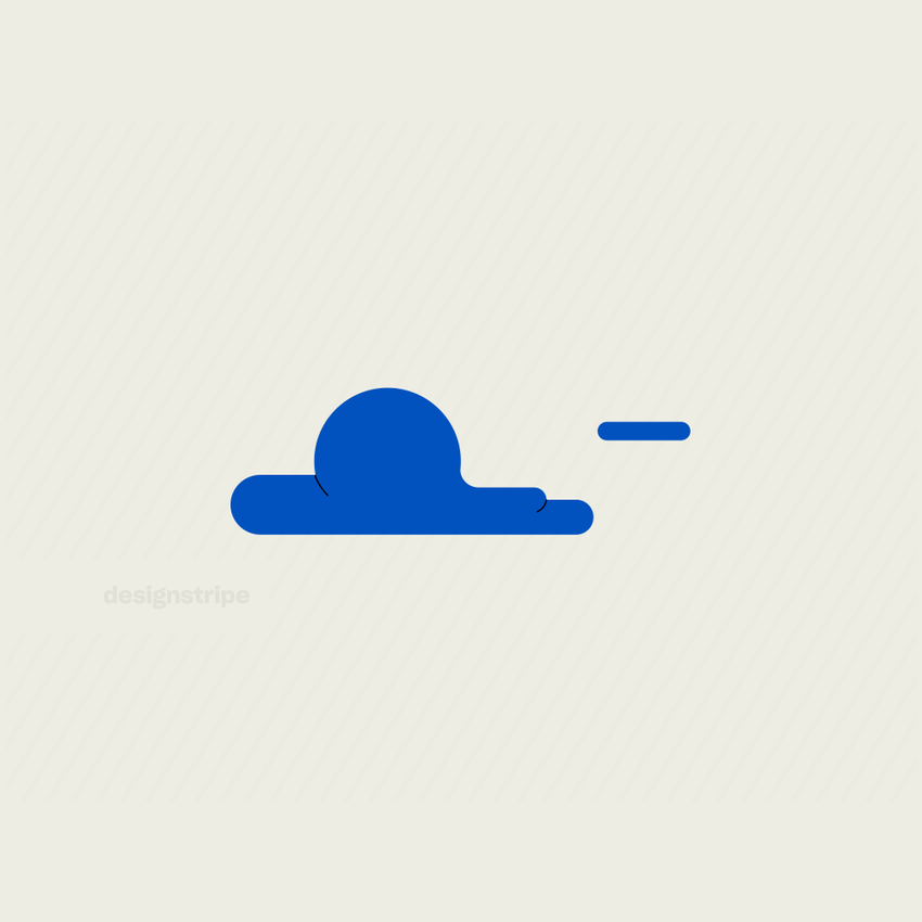 Illustration Of Clouds with Lines 1