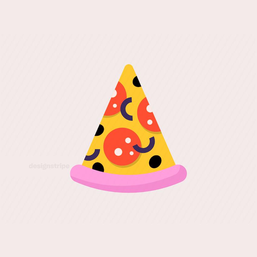 Illustration Of Slice of Pizza