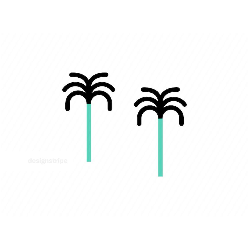 Illustration Of Palm Trees