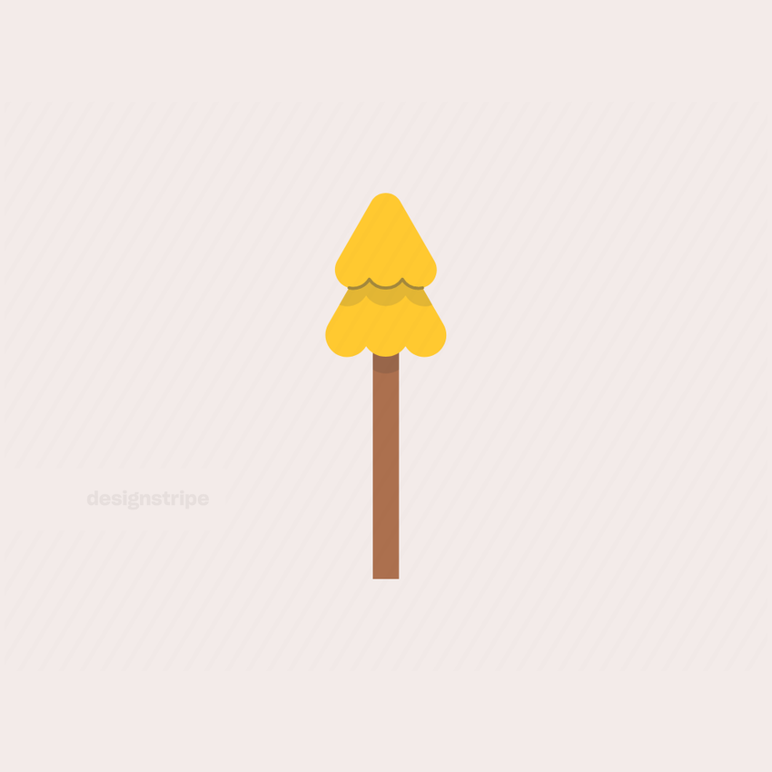 Illustration Of Tall Pine Tree