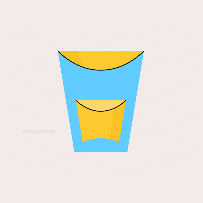 Illustration Of Shot Glass with Alcohol