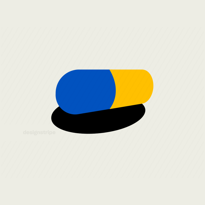Illustration Of Medicine Pill with Shadow 2