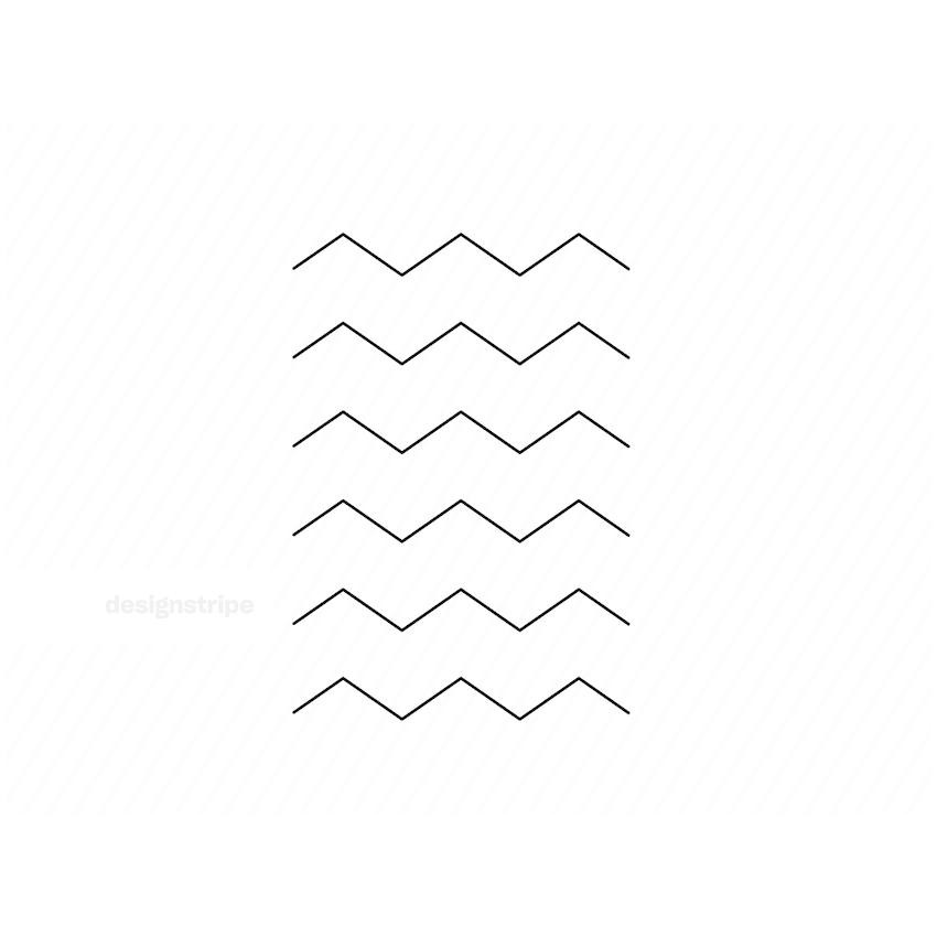 Illustration Of Zig Zag Lines