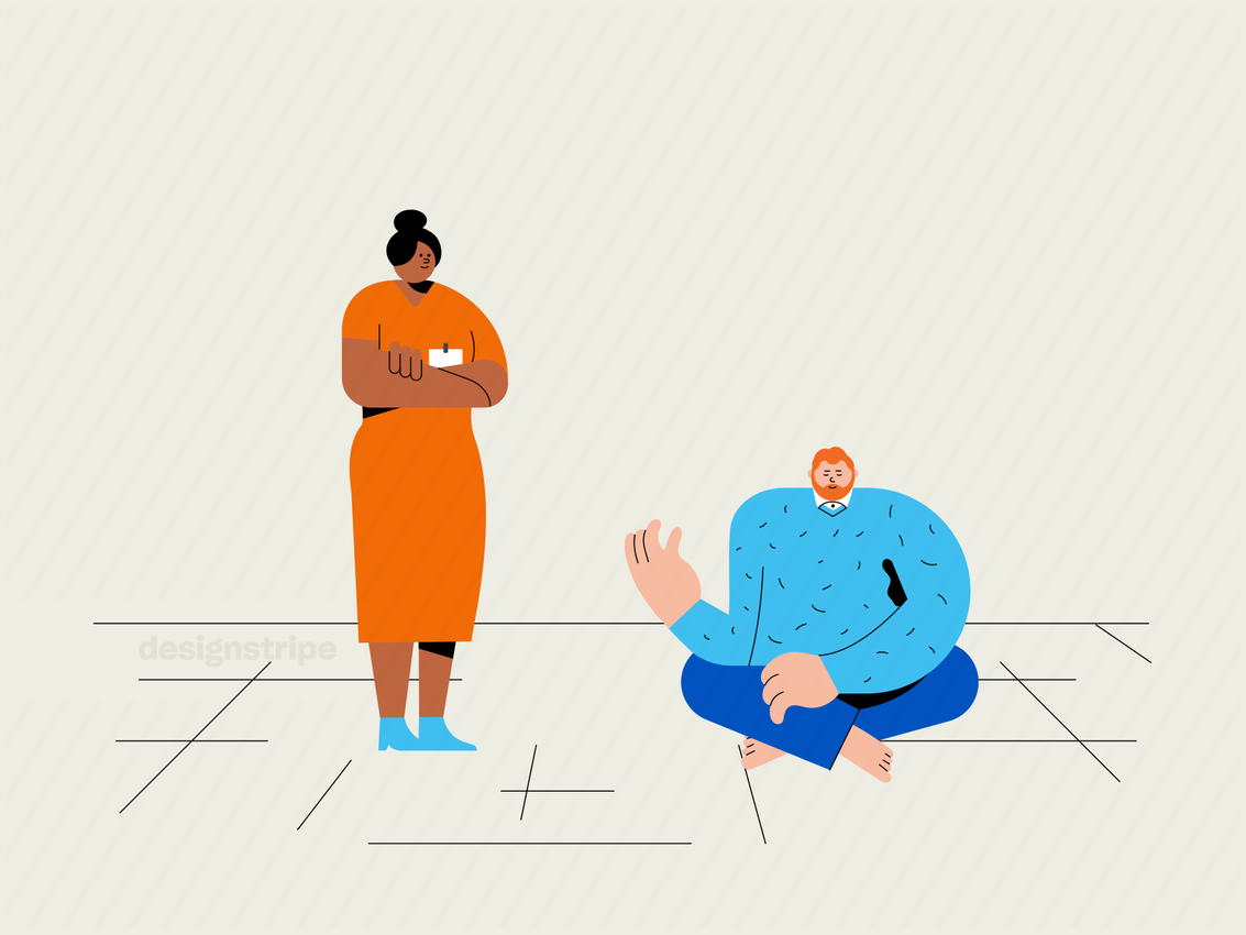 Illustration Of Person Consulting With A Health Professional