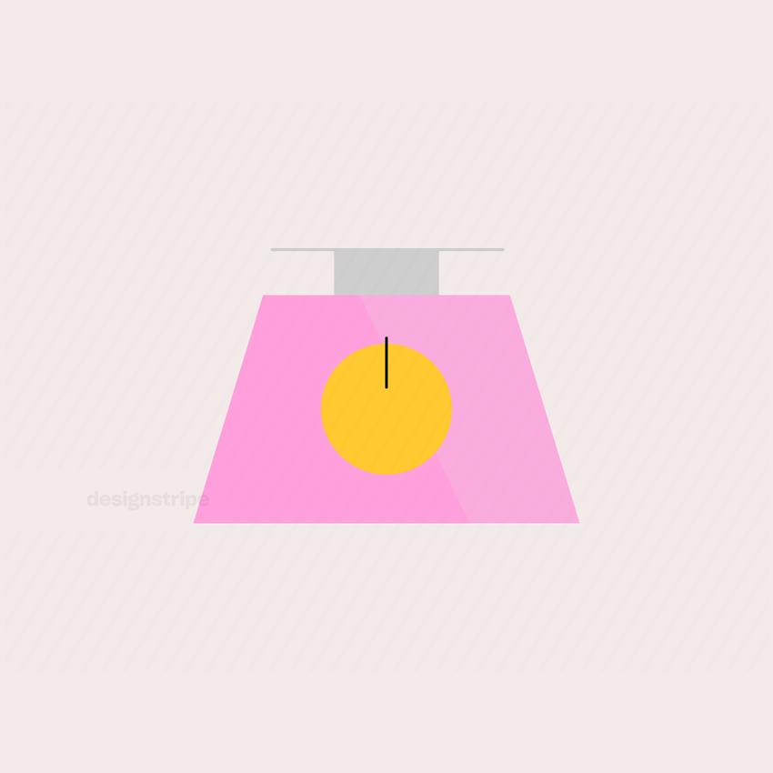 Illustration Of Set of Kitchen Scales