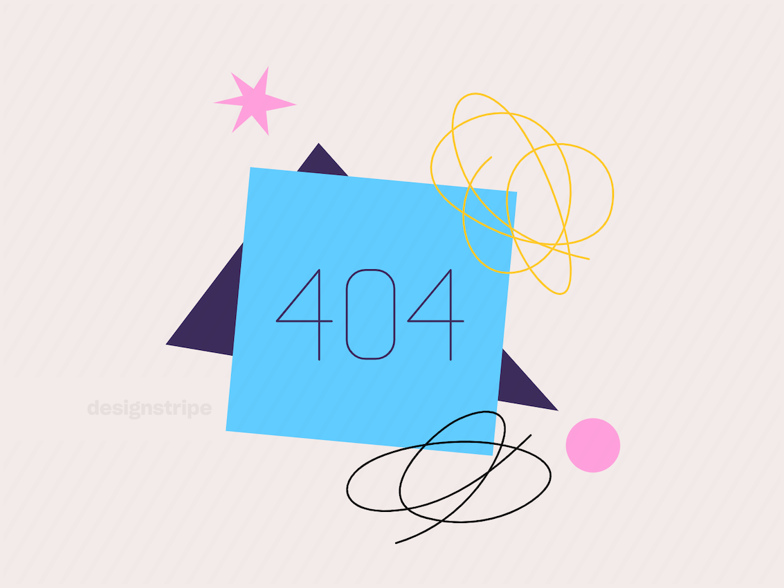 Illustration Of 404 Error Page Not Found