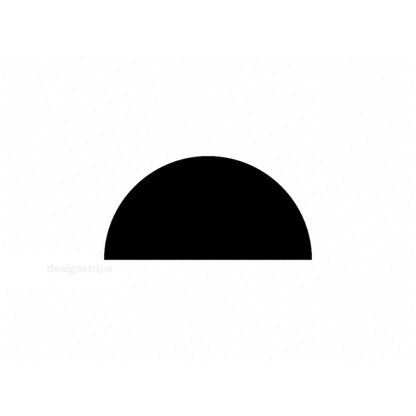 Illustration Of Half Circle