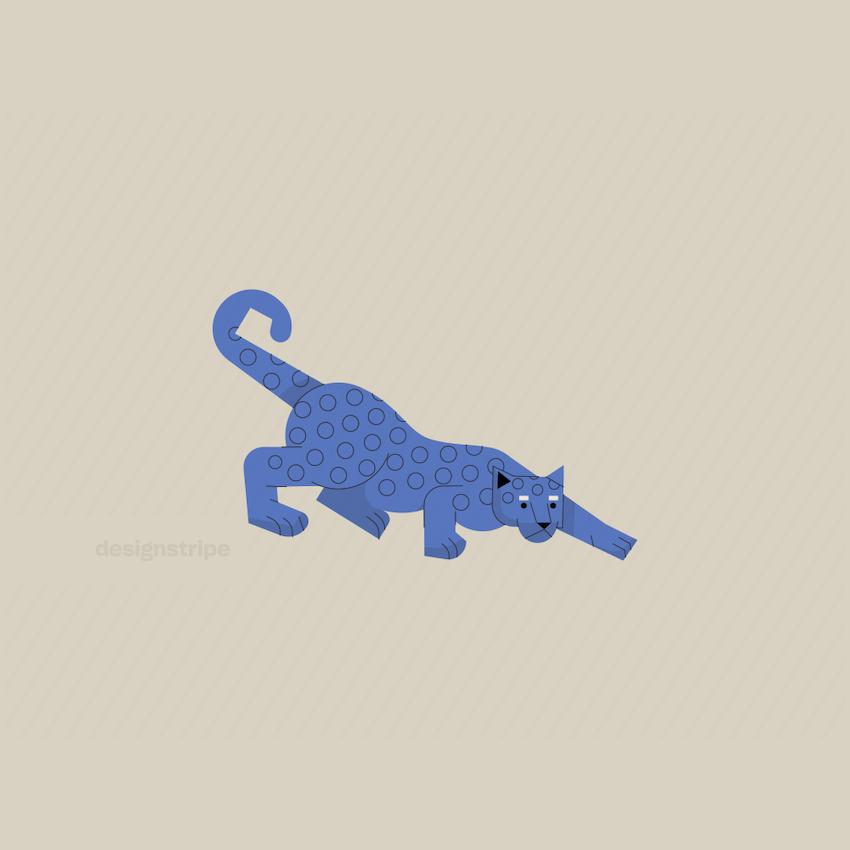 Illustration Of Leopard Crouching