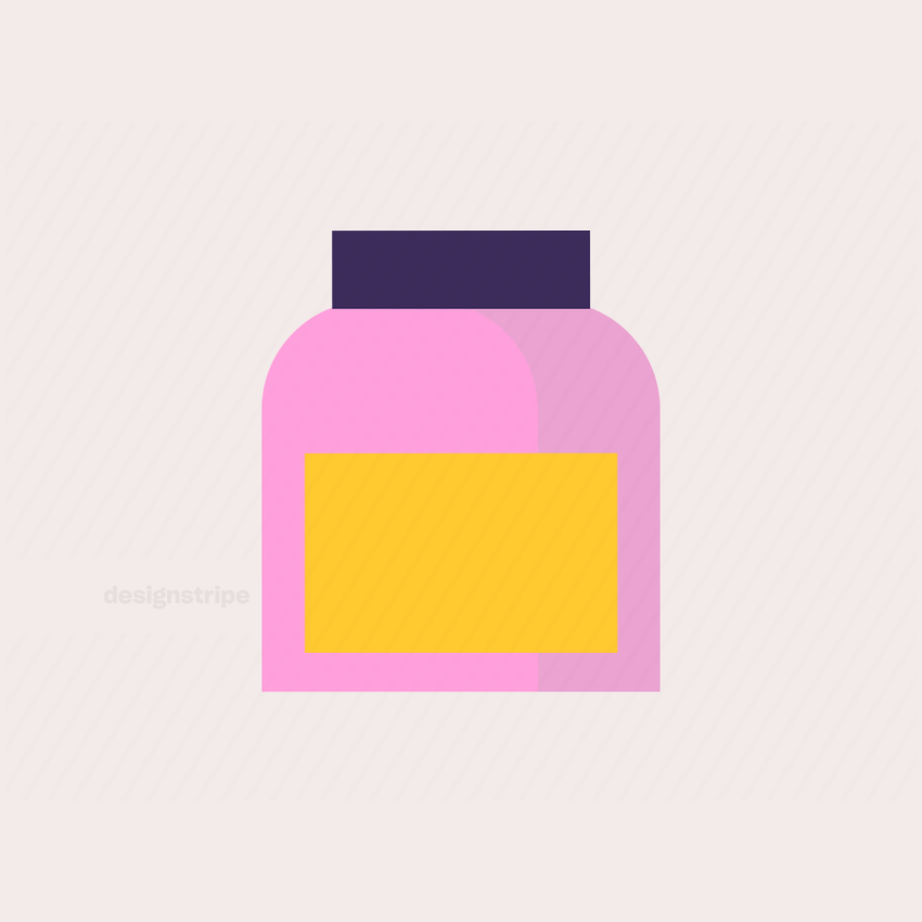 Illustration Of Jar With a Label