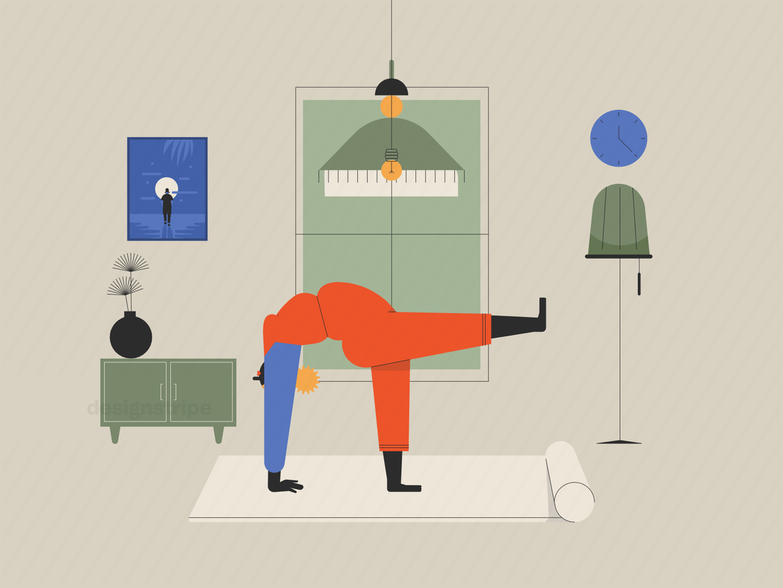Illustration Of Person Relaxing At Home