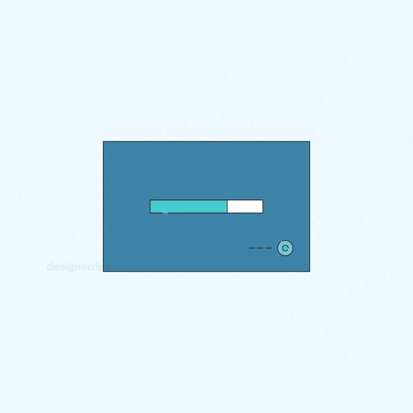 Illustration Of Loading Screen Frame