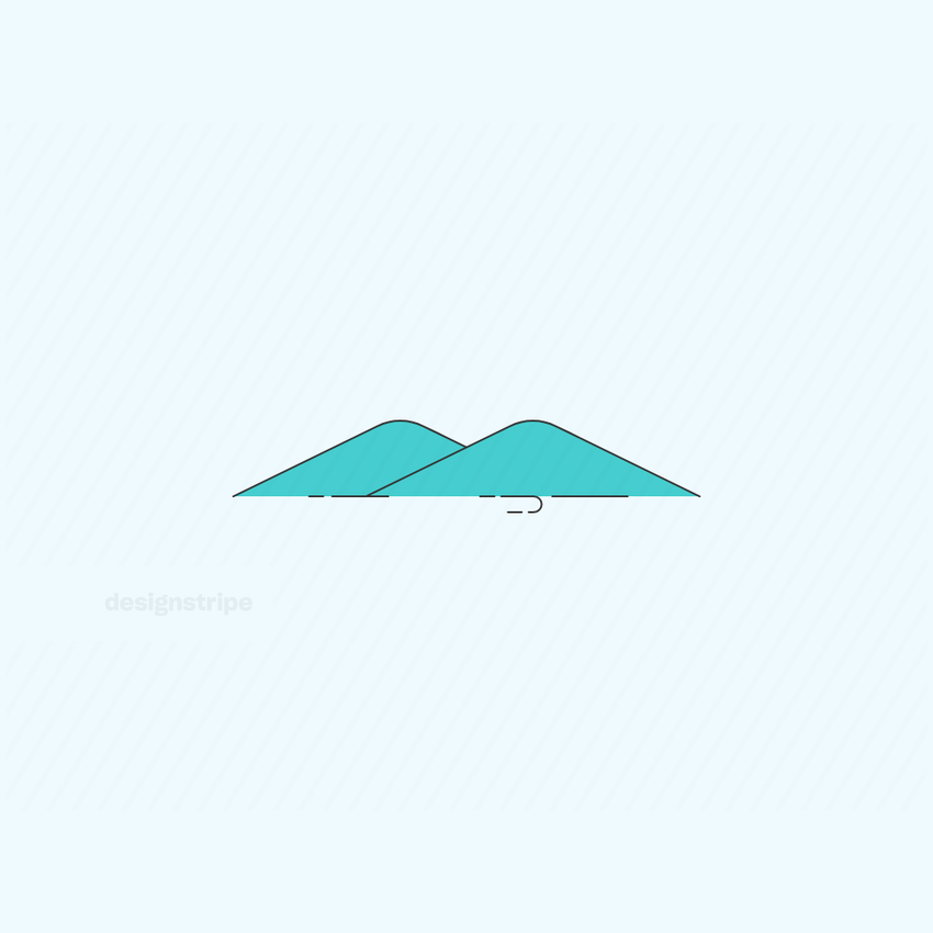 Illustration Of Mountains Or Pyramids