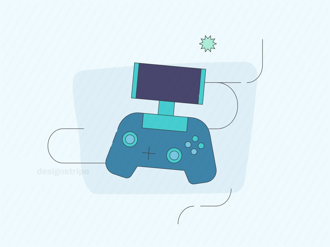Illustration Of Game Console or Controller