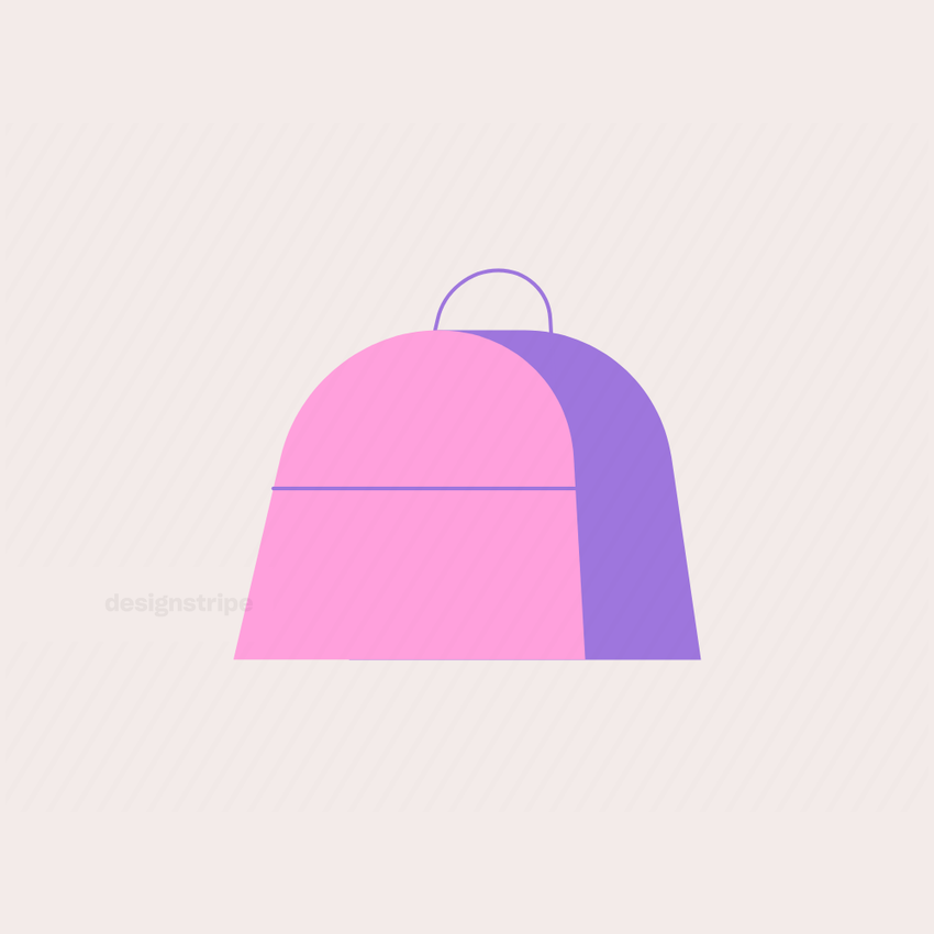 Illustration Of Travel Bag with Handle