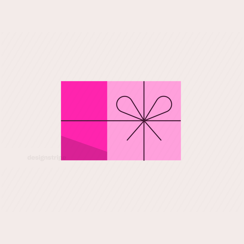 Illustration Of Gift Box with Ribbon