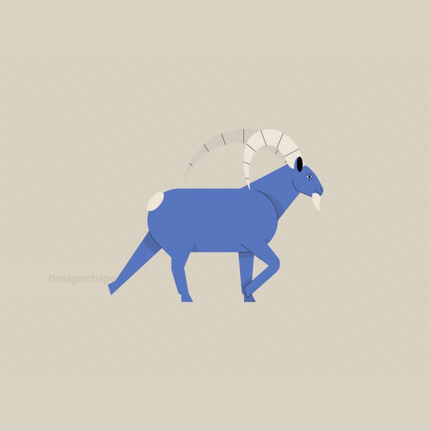 Illustration Of Goat Walking