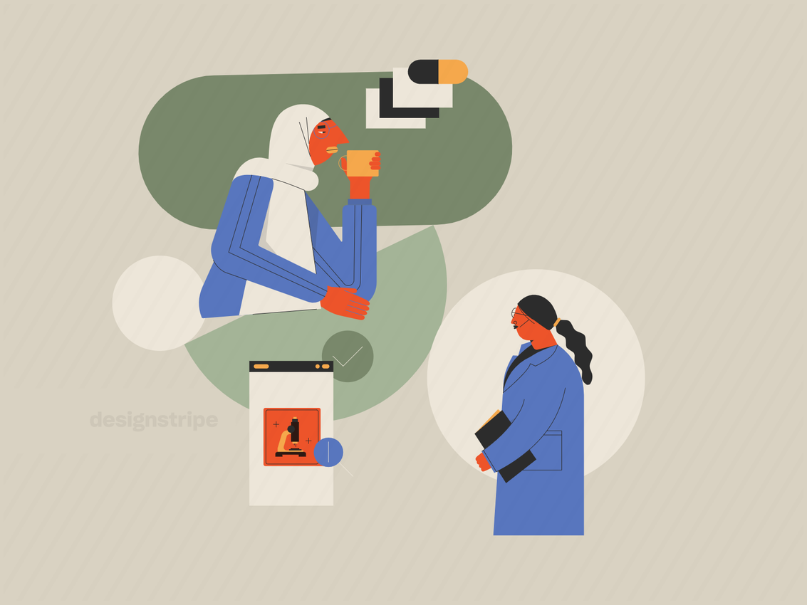 Illustration Of People Collaborating Online