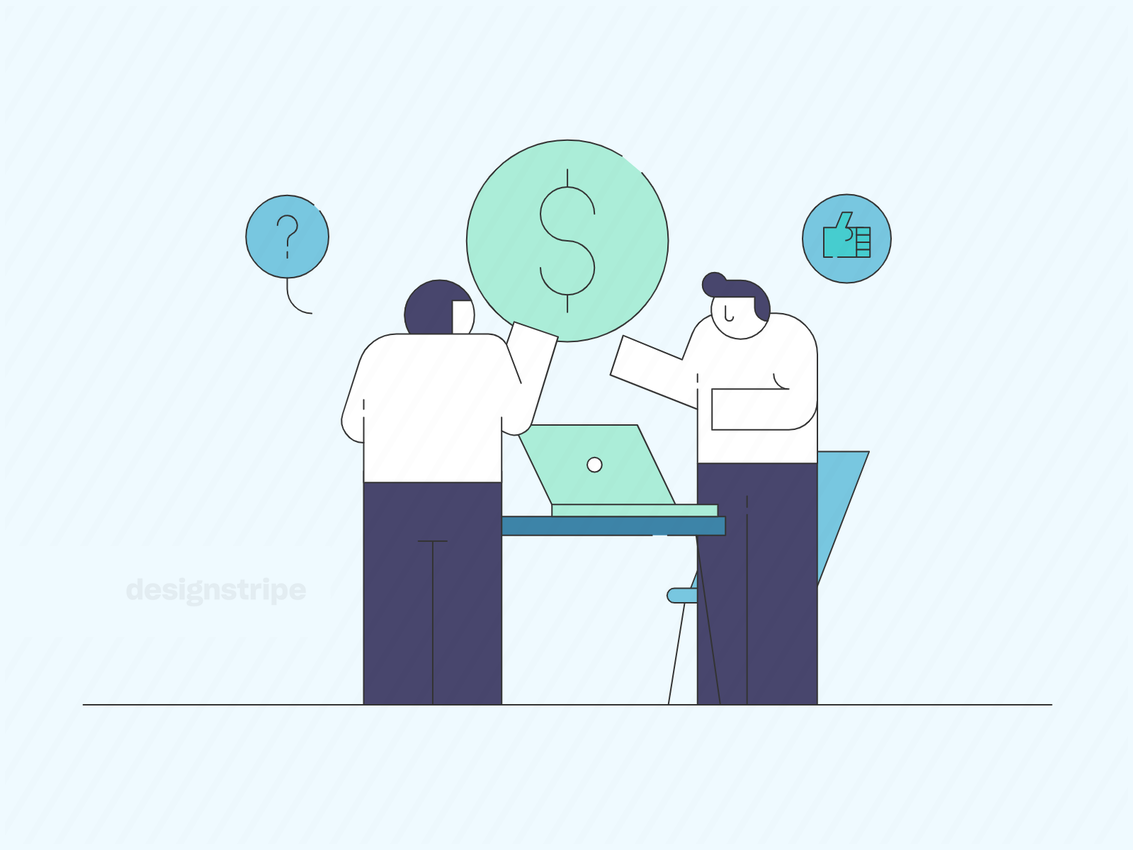 Illustration Of People Collaborating In The Workplace