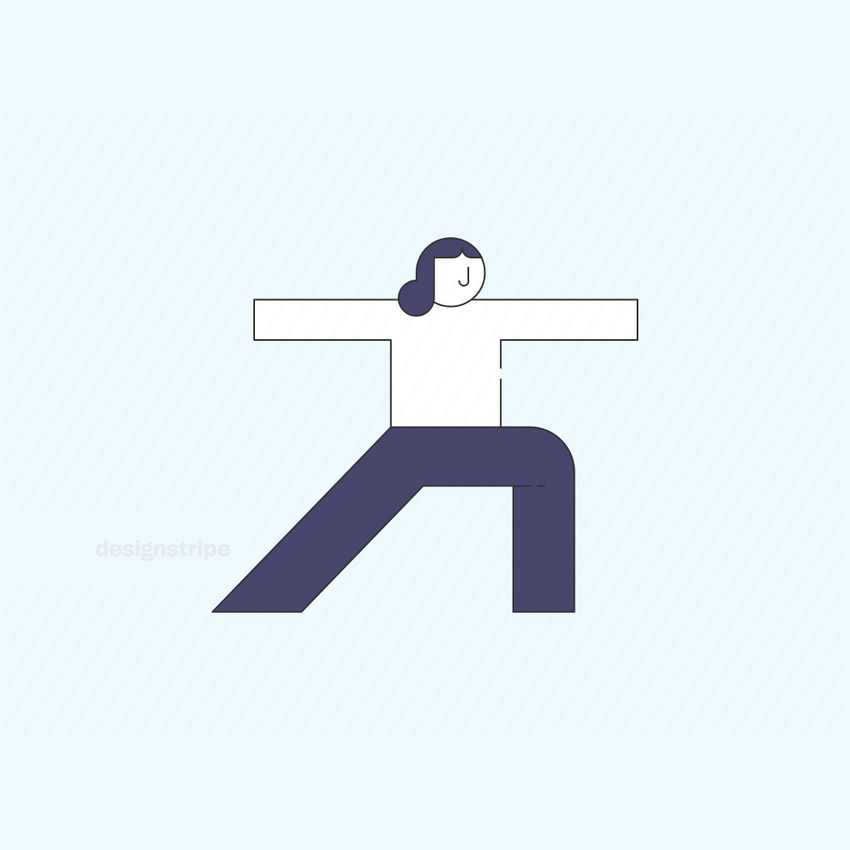 Illustration Of Woman Doing Yoga