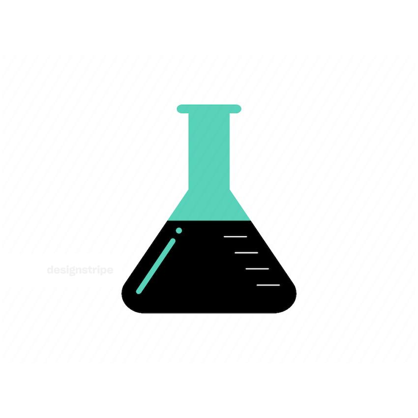 Illustration Of Erlenmeyer flask