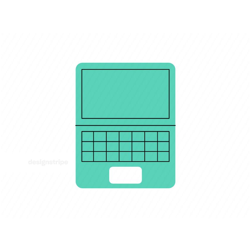 Illustration Of Laptop Computer