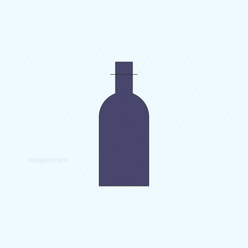 Illustration Of Empty Bottle With Cork