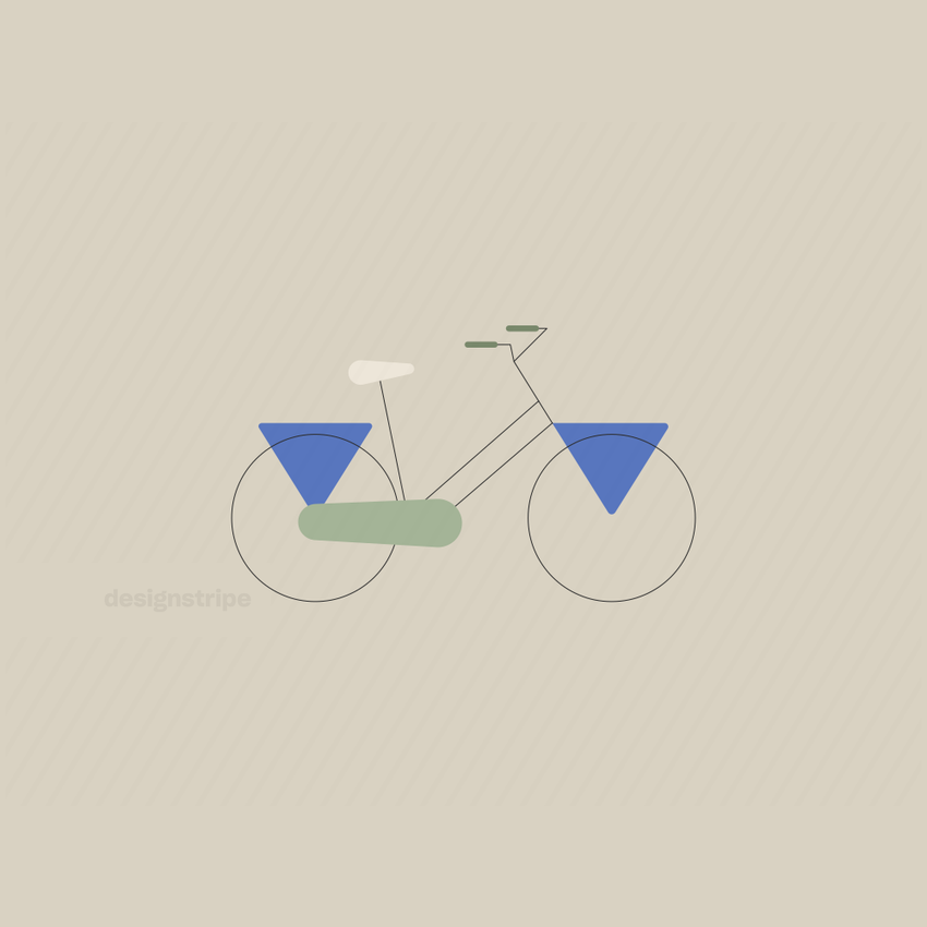 Illustration Of Bicycle With Triangle Fenders