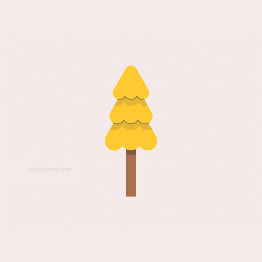 Illustration Of Medium Pine Tree