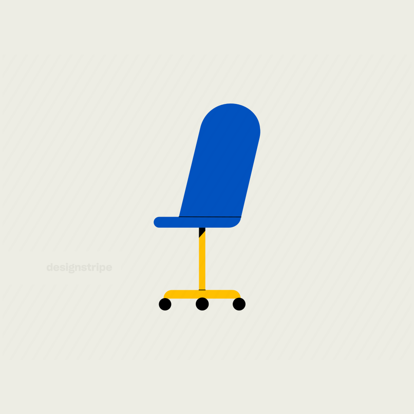 Illustration Of Angled Office Chair