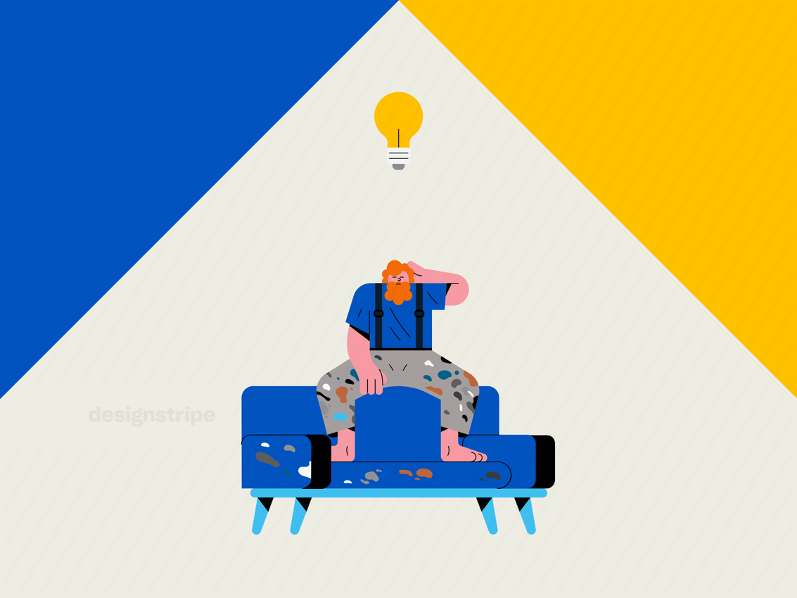 Illustration Of Artist Having A Creative Breakthrough