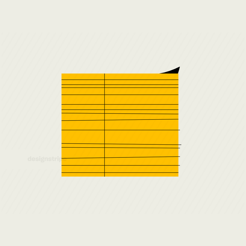 Illustration Of Fastened Stack of Paper