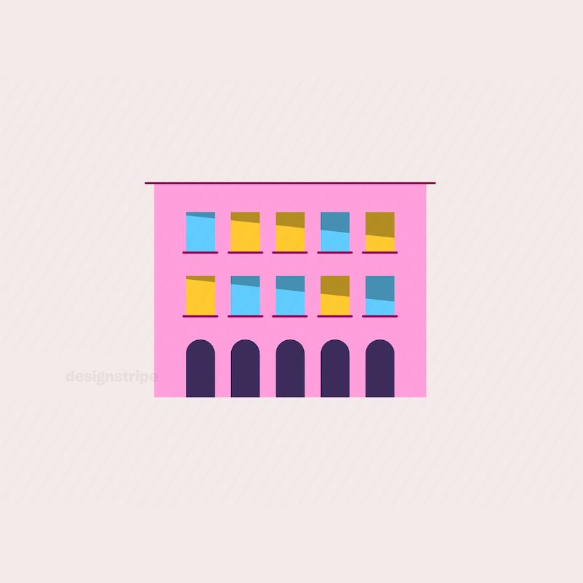 Illustration Of Apartment Block