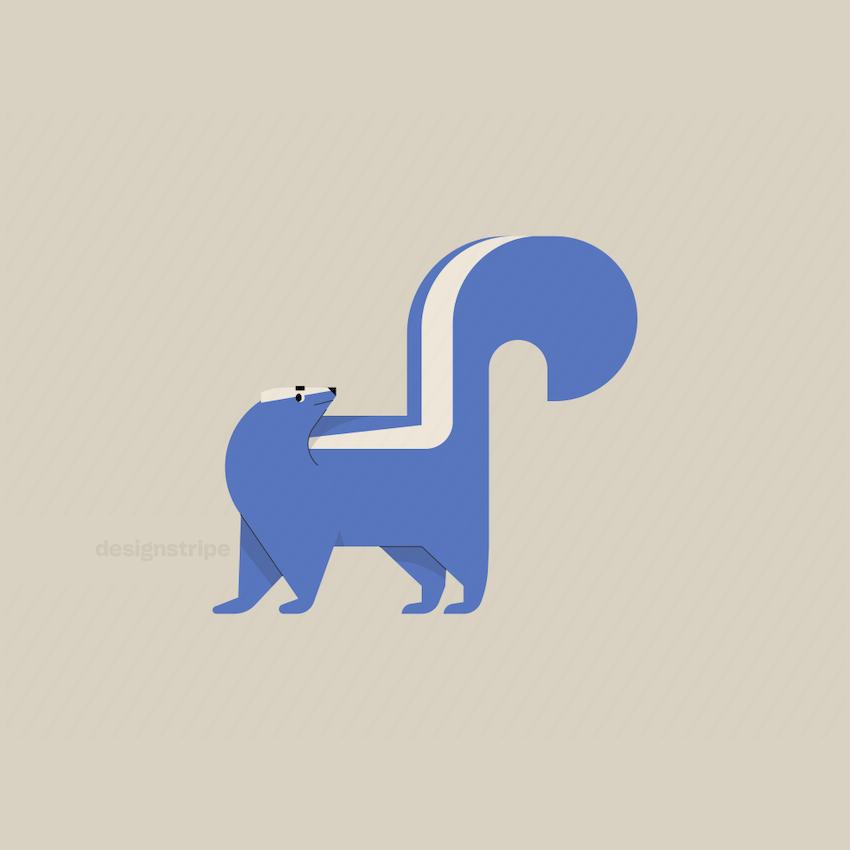 Illustration Of Skunk