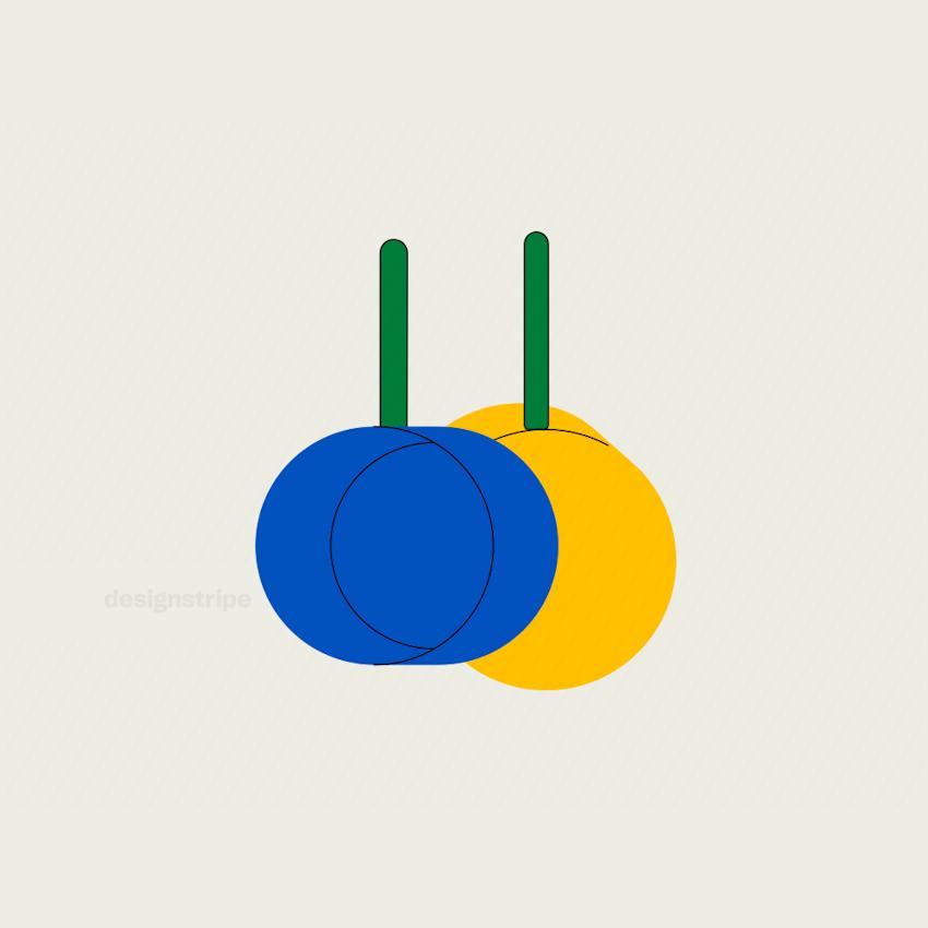 Illustration Of Pair of Hanging Saucepans