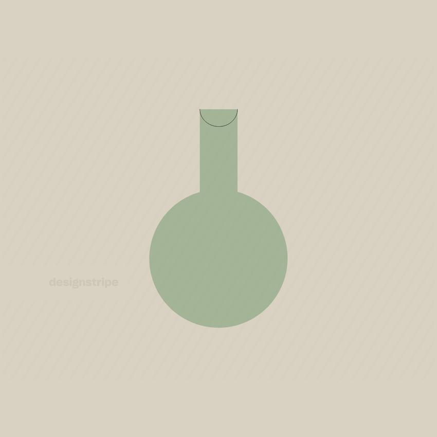 Illustration Of Circular Vase Or Beaker
