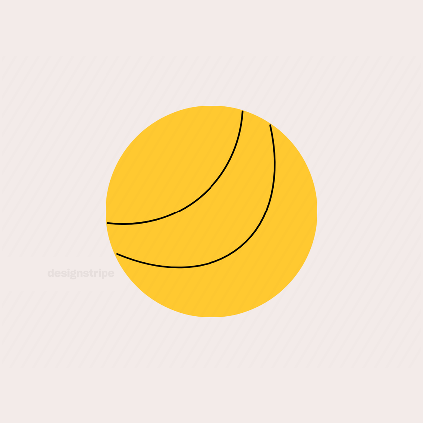 Illustration Of Volleyball or Marble