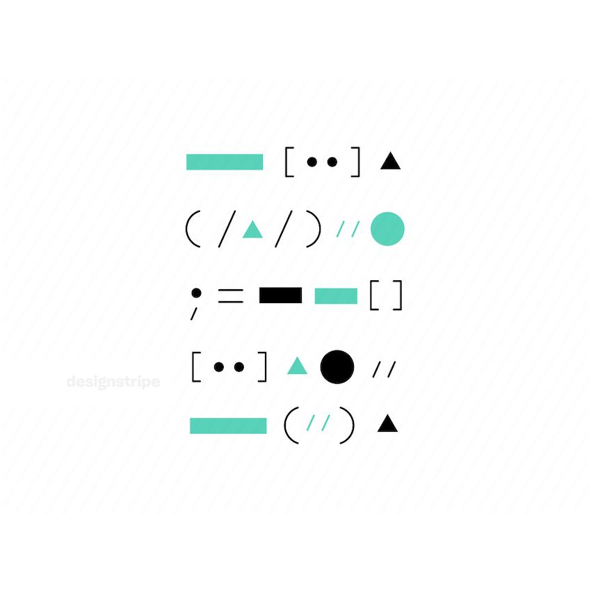 Illustration Of Coding symbols