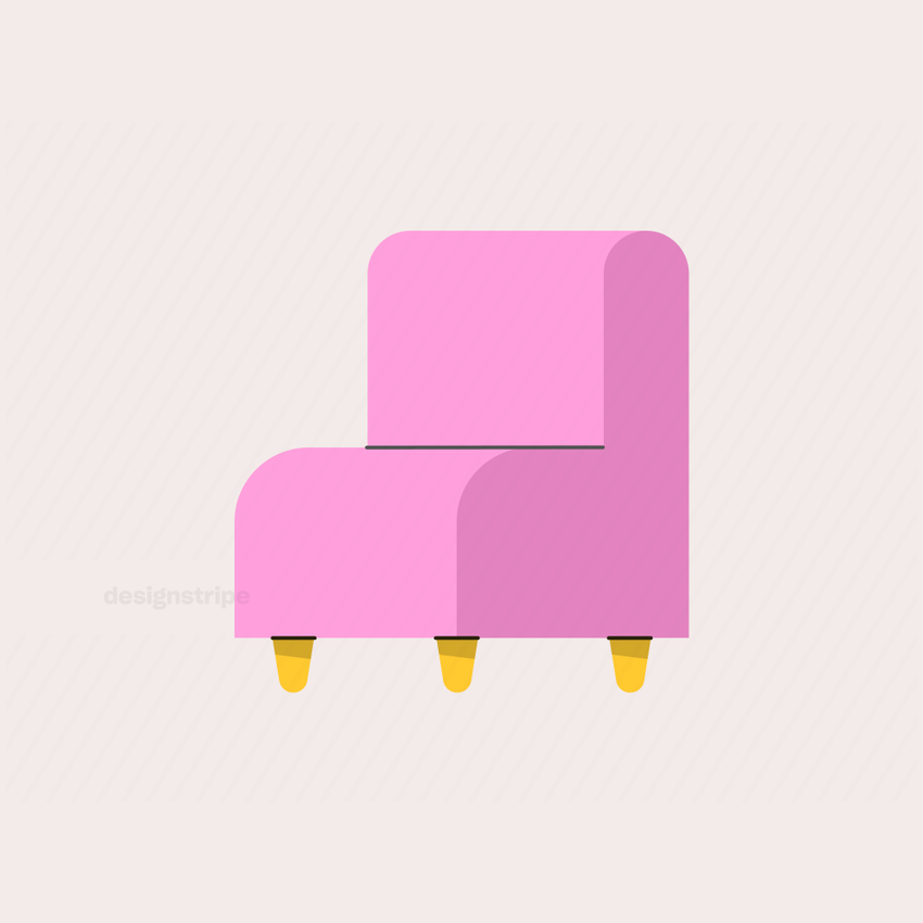 Illustration Of Cushioned Chair