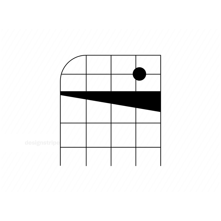 Illustration Of Grid With Shapes
