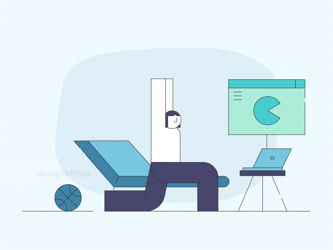 Illustration Of Person Having A Meeting From Home