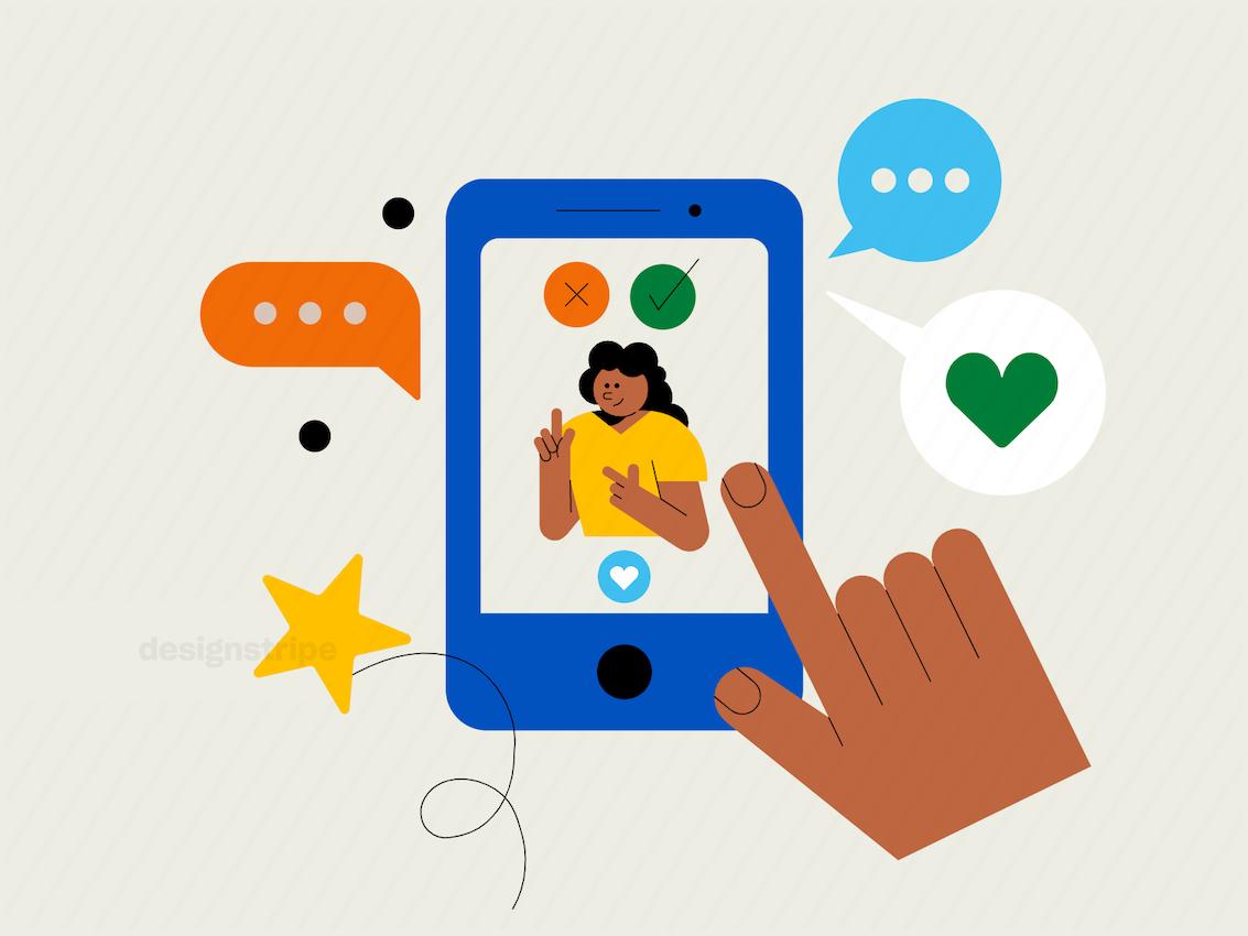 Illustration Of Online Dating App