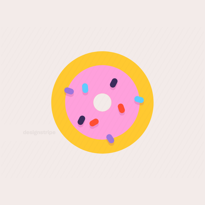 Illustration Of Chocolate Donut with Sprinkles