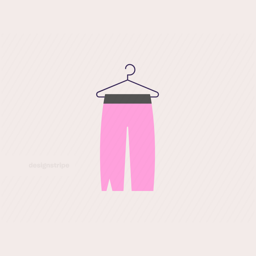 Illustration Of Ripped Pants Hanging on Hanger