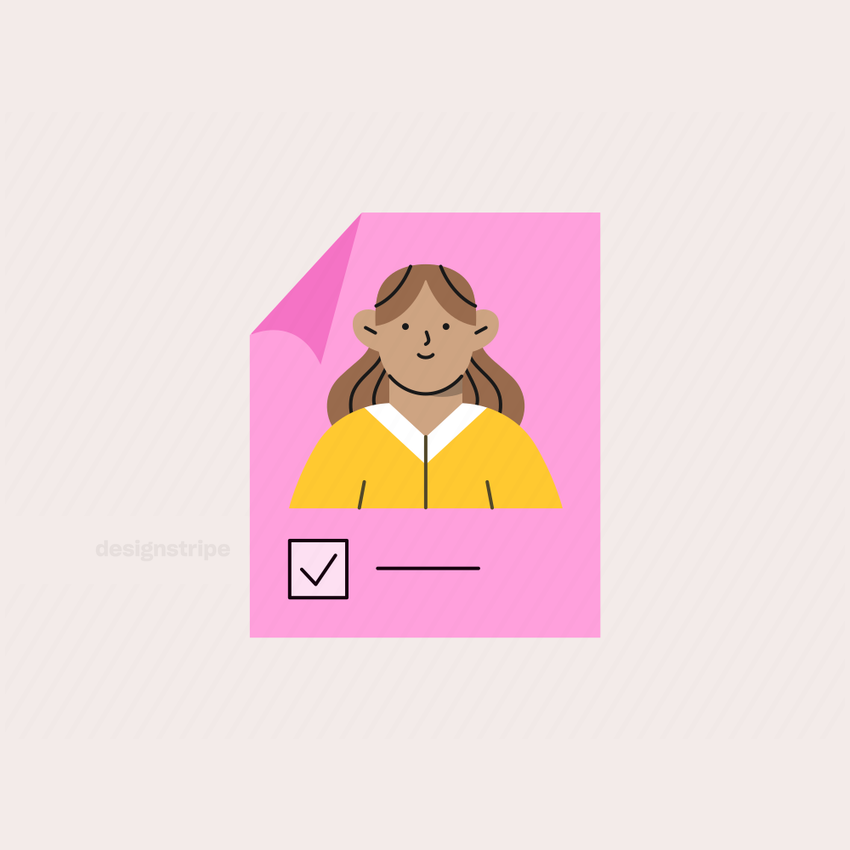 Illustration Of Poster of Female Election Candidate